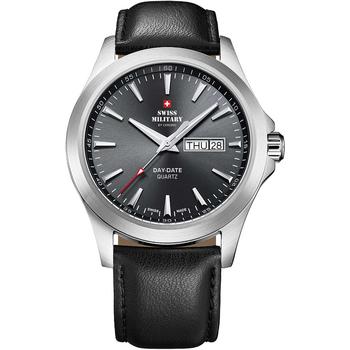 Relojes & Joyas Hombre Relojes analógicos Swiss Military By Chrono SMP36040.08, Quartz, 42mm, 5ATM Plata
