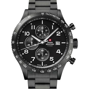 Relojes & Joyas Hombre Relojes analógicos Swiss Military By Chrono SM34084.03, Quartz, 42mm, 10ATM Negro