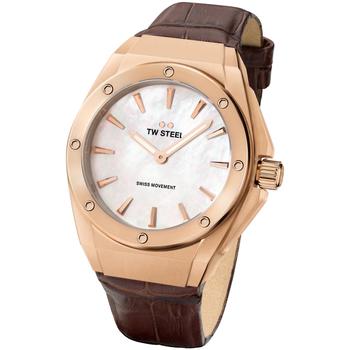 Relojes & Joyas Mujer Relojes analógicos Tw-Steel CE4034, Quartz, 38mm, 10ATM Oro