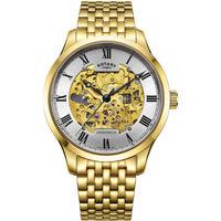 Relojes & Joyas Hombre Relojes analógicos Rotary GB02941/03, Automatic, 42mm, 5ATM Oro