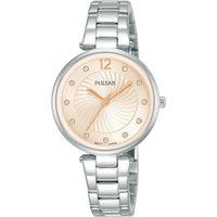 Relojes & Joyas Mujer Relojes analógicos Pulsar PH8491X1, Quartz, 30mm, 5ATM Plata