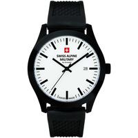 Relojes & Joyas Hombre Relojes analógicos Swiss Alpine Military 7055.1873, Quartz, 43mm, 10ATM Negro