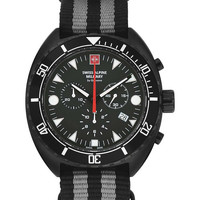 Relojes & Joyas Hombre Relojes analógicos Swiss Alpine Military 7066.9677, Quartz, 44mm, 10ATM Negro