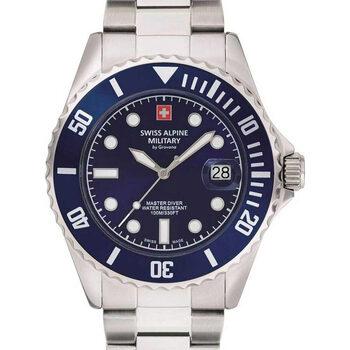 Relojes & Joyas Hombre Relojes analógicos Swiss Alpine Military 7053.1135, Quartz, 42mm, 10ATM Plata