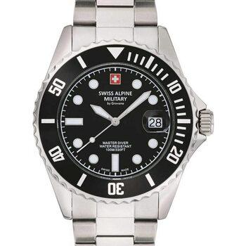 Relojes & Joyas Hombre Relojes analógicos Swiss Alpine Military 7053.1137, Quartz, 42mm, 10ATM Plata