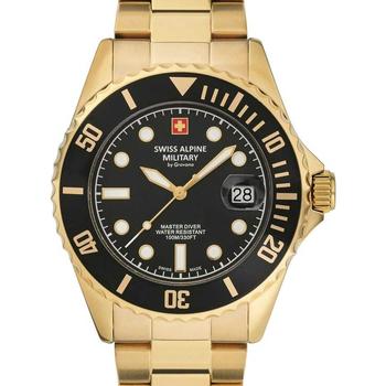 Relojes & Joyas Hombre Relojes analógicos Swiss Alpine Military 7053.1117, Quartz, 42mm, 10ATM Oro