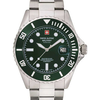 Relojes & Joyas Hombre Relojes analógicos Swiss Alpine Military 7053.1134, Quartz, 42mm, 10ATM Plata