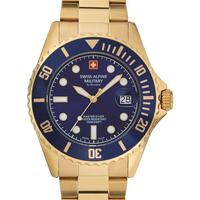 Relojes & Joyas Hombre Relojes analógicos Swiss Alpine Military 7053.1115, Quartz, 42mm, 10ATM Oro