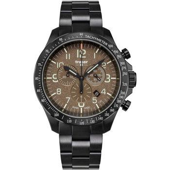 Relojes & Joyas Hombre Relojes analógicos Traser H3 109460, Quartz, 46mm, 10ATM Negro