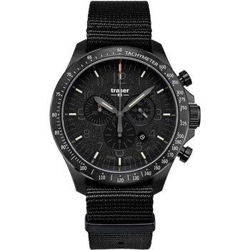 Relojes & Joyas Hombre Relojes analógicos Traser H3 109465, Quartz, 46mm, 10ATM Negro