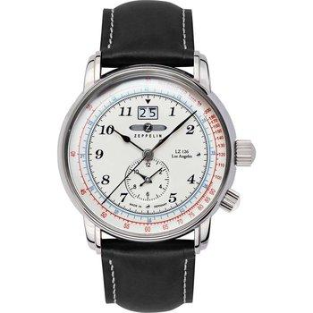 Relojes & Joyas Hombre Relojes analógicos Zeppelin 8644-1, Quartz, 43mm, 5ATM Plata