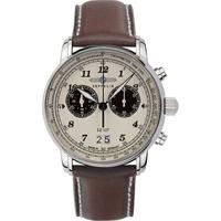 Relojes & Joyas Hombre Relojes analógicos Zeppelin 8684-5, Quartz, 41mm, 5ATM Plata