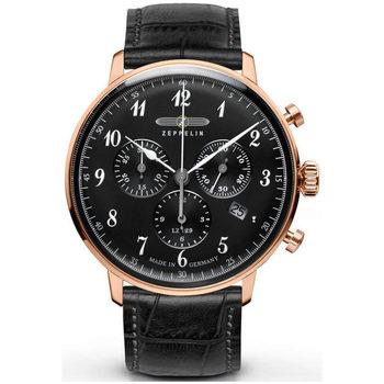 Relojes & Joyas Hombre Relojes analógicos Zeppelin 7084-2, Quartz, 40mm, 3ATM Oro