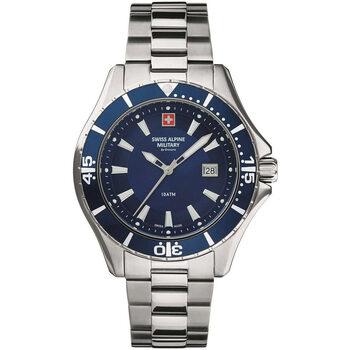 Relojes & Joyas Hombre Relojes analógicos Swiss Alpine Military 7040.1135, Quartz, 46mm, 10ATM Plata