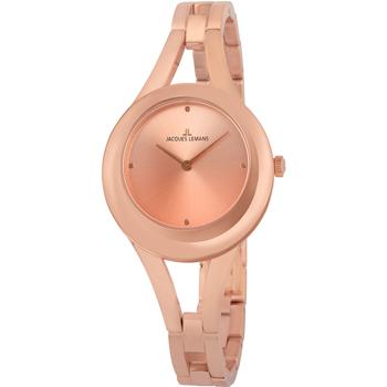 Relojes & Joyas Mujer Relojes analógicos Jacques Lemans 1-2071D, Quartz, 32mm, 5ATM Oro