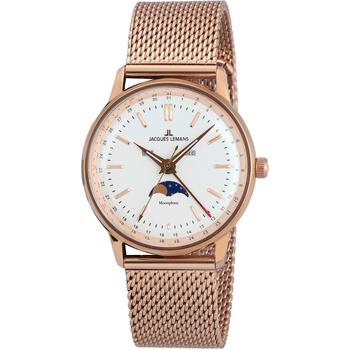 Relojes & Joyas Mujer Relojes analógicos Jacques Lemans N-214G, Quartz, 38mm, 5ATM Oro