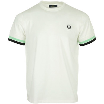 textil Hombre Camisetas manga corta Fred Perry Bold Tipped Tee Shirt Blanco