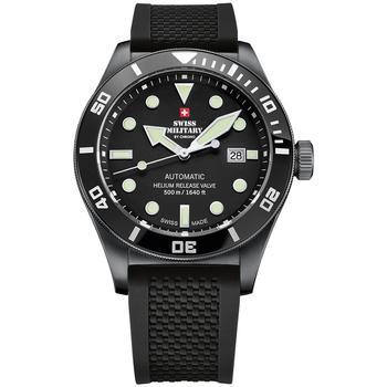 Relojes & Joyas Hombre Relojes analógicos Swiss Military By Chrono SMA34075.05, Automatic, 44mm, 50ATM Negro