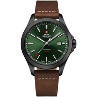 Relojes & Joyas Hombre Relojes analógicos Swiss Military By Chrono SMA34077.12, Automatic, 42mm, 10ATM Negro