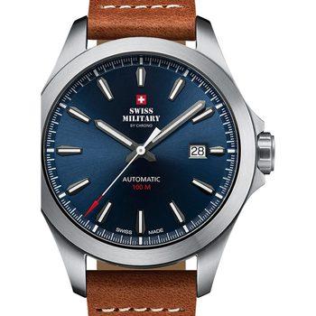 Relojes & Joyas Hombre Relojes analógicos Swiss Military By Chrono SMA34077.09, Automatic, 42mm, 10ATM Plata