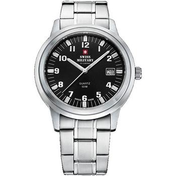 Relojes & Joyas Hombre Relojes analógicos Swiss Military By Chrono SMP36004.06, Quartz, 40mm, 5ATM Plata