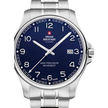 Relojes & Joyas Hombre Relojes analógicos Swiss Military By Chrono SM30200.18, Quartz, 39mm, 5ATM Plata