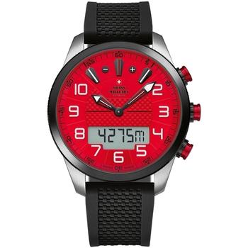 Relojes & Joyas Hombre Relojes mixtos analógico-digital Swiss Military By Chrono SM34061.02, Quartz, 45mm, 10ATM Plata