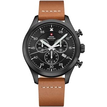Relojes & Joyas Hombre Relojes analógicos Swiss Military By Chrono SM34076.08, Quartz, 43mm, 10ATM Negro