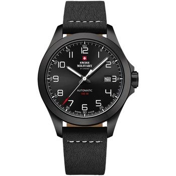 Relojes & Joyas Hombre Relojes analógicos Swiss Military By Chrono SMA34077.04, Automatic, 42mm, 10ATM Negro