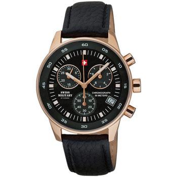 Relojes & Joyas Hombre Relojes analógicos Swiss Military By Chrono SM30052.06, Quartz, 41mm, 5ATM Oro