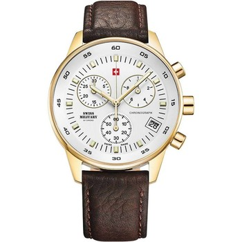 Relojes & Joyas Hombre Relojes analógicos Swiss Military By Chrono SM30052.05, Quartz, 40mm, 5ATM Oro
