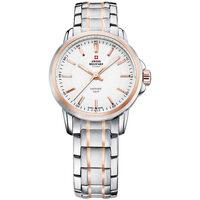 Relojes & Joyas Mujer Relojes analógicos Swiss Military By Chrono SM34040.10, Quartz, 28mm, 10ATM Plata