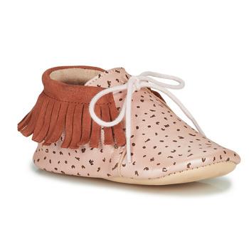 Zapatos Niña Pantuflas Easy Peasy MEXIMOO Suave / Rosa / Bestia / Suave / Cuero