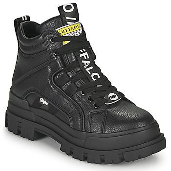 Zapatos Mujer Botas de caña baja Buffalo ASPHA NC MID Negro