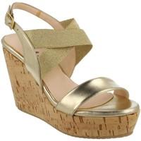 Zapatos Mujer Sandalias L'amour 954 PLATINO Oro