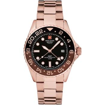 Relojes & Joyas Hombre Relojes analógicos Swiss Alpine Military 7052.1164, Quartz, 42mm, 10ATM Oro