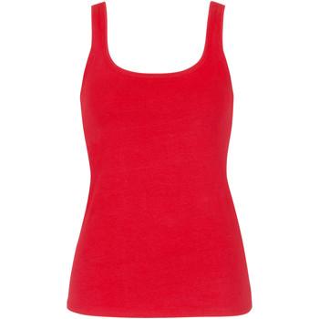 textil Mujer Camisetas sin mangas Lisca Happyday Coral Tank Top  Cheek Encaje Blanco