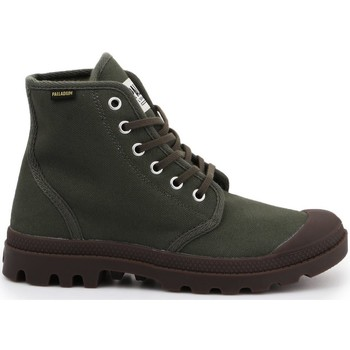 Zapatos Hombre Zapatillas altas Palladium Manufacture Pampa HI Originale Verdes, Marrón