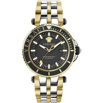 Relojes & Joyas Hombre Relojes analógicos Versace VEAK00518, Quartz, 46mm, 5ATM Oro