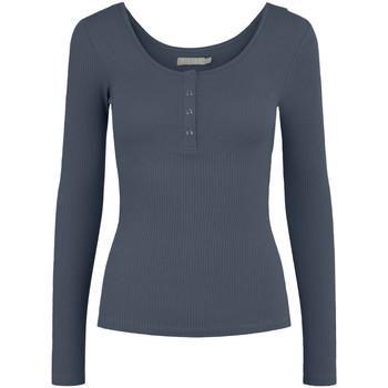 textil Mujer Camisetas manga larga Pieces 17101437 Blu