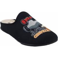 Zapatos Hombre Pantuflas Vulca Bicha Ir por casa caballero  1824 negro Negro