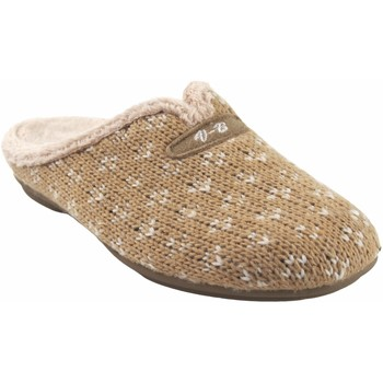 Zapatos Mujer Pantuflas Vulca Bicha Ir por casa señora  4324 beig Marrón