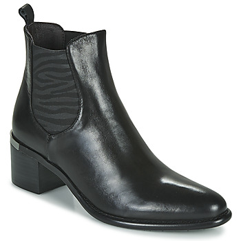 Zapatos Mujer Botines Adige DIVA V1 VEAU GARNET NOIR Negro