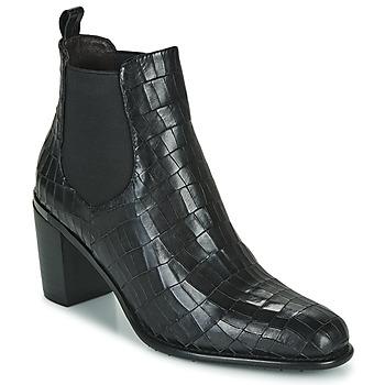 Zapatos Mujer Botines Adige FANNY V5 CROCO NOIR Negro