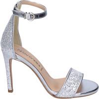 Zapatos Mujer Sandalias Olga Rubini Sandalias Glitter Plata