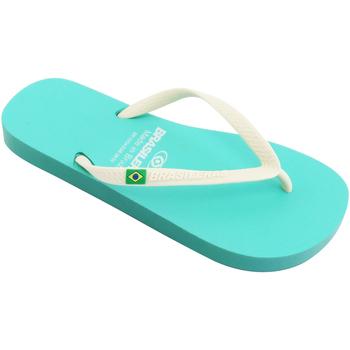 Zapatos Mujer Chanclas Brasileras Chanclas de playa ®, Classic Combi W SS19 Water Green/White
