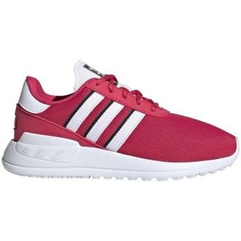 Zapatos Niños Zapatillas bajas adidas Originals LA Trainer Lite C Blanco, Rosa