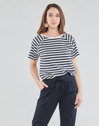 textil Mujer Tops / Blusas JDY JDYLACEY LIFE S/S PRINT TOP JRS Blanco / Negro