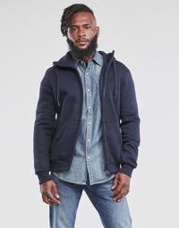 textil Hombre Sudaderas G-Star Raw PREMIUM BASIC HOODED ZIP SWEATER Marino