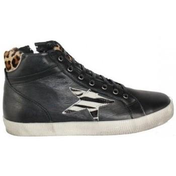 Zapatos Mujer Zapatillas altas Top3 BOTIN CASUAL COMBINADO PIEL VINTAGE Negro